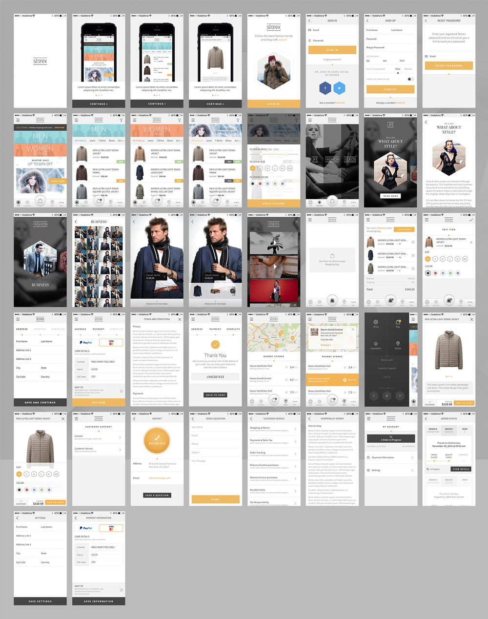 Storex Free Shopping Application Template