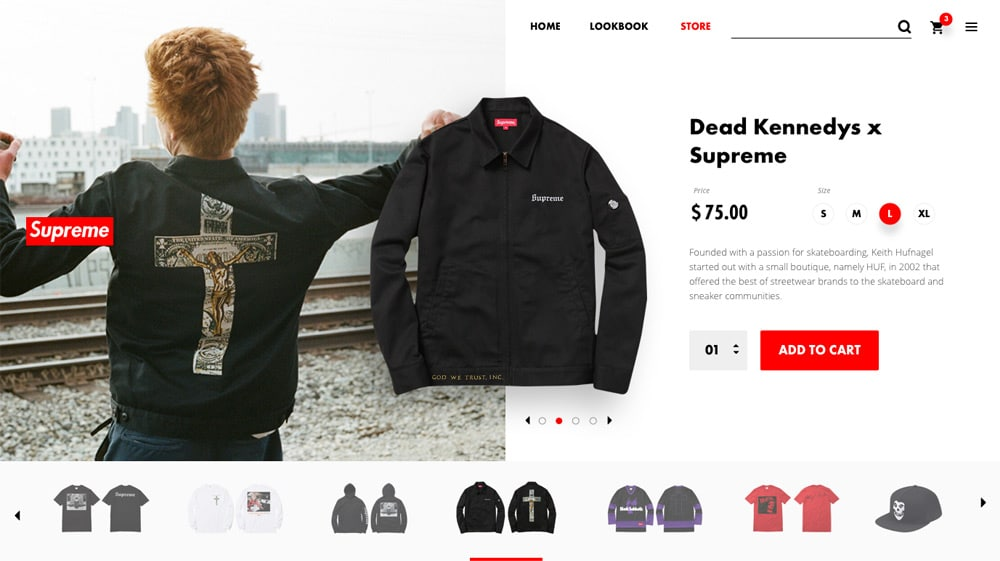 Supreme Product Page