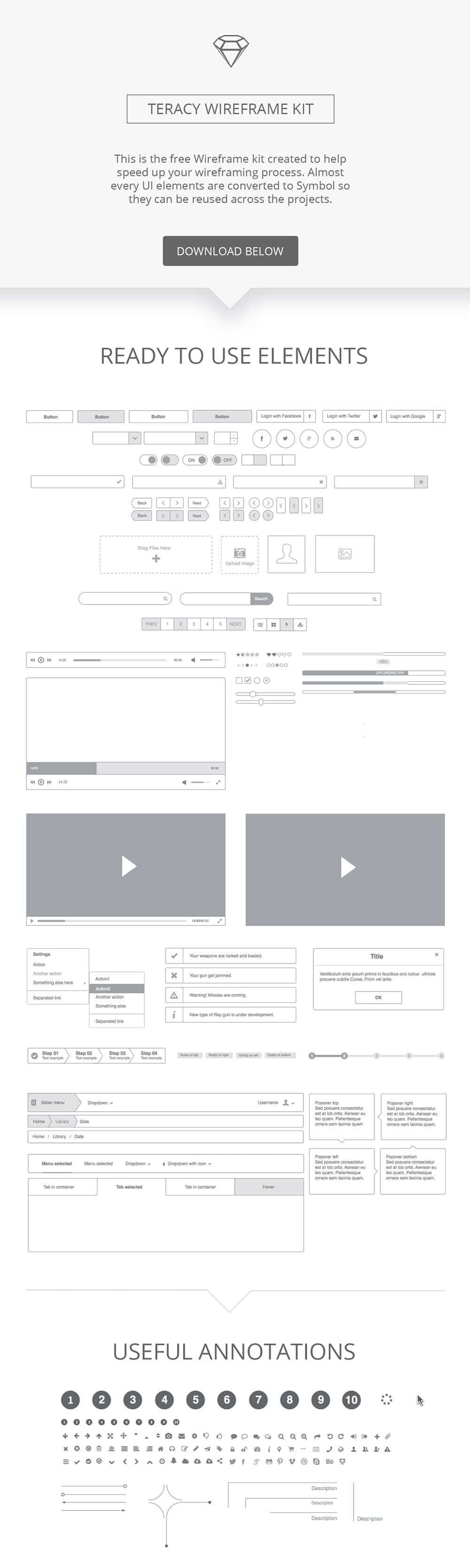 Teracy Wireframe UI Kit