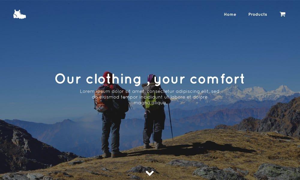 Trekking Store – Fre E commerce Template PSD