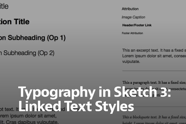 Typography in Sketch 3