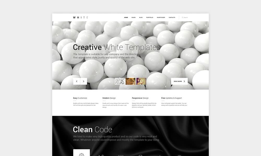 White Free One-Page HTML Theme