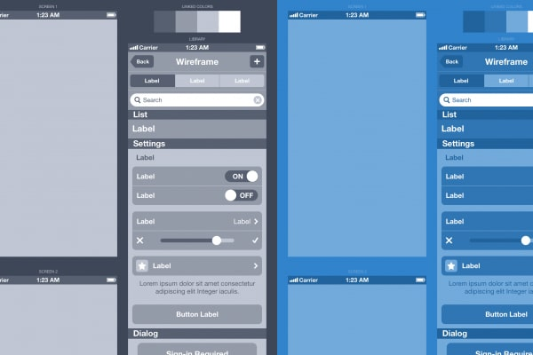 Wireframe An iPhone App