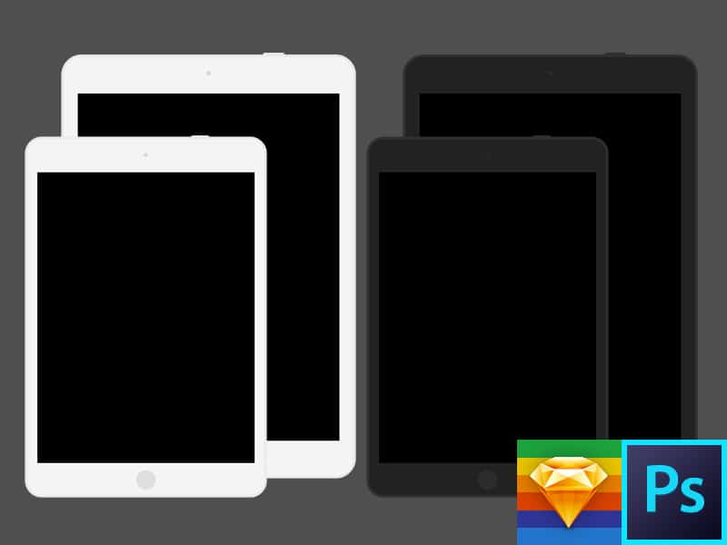 iPad Air Mini Flat Template