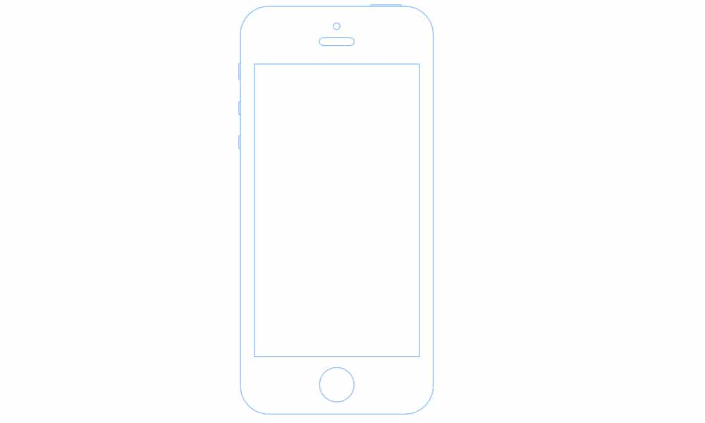 iPhone 5S Wireframe Sketch Mockup