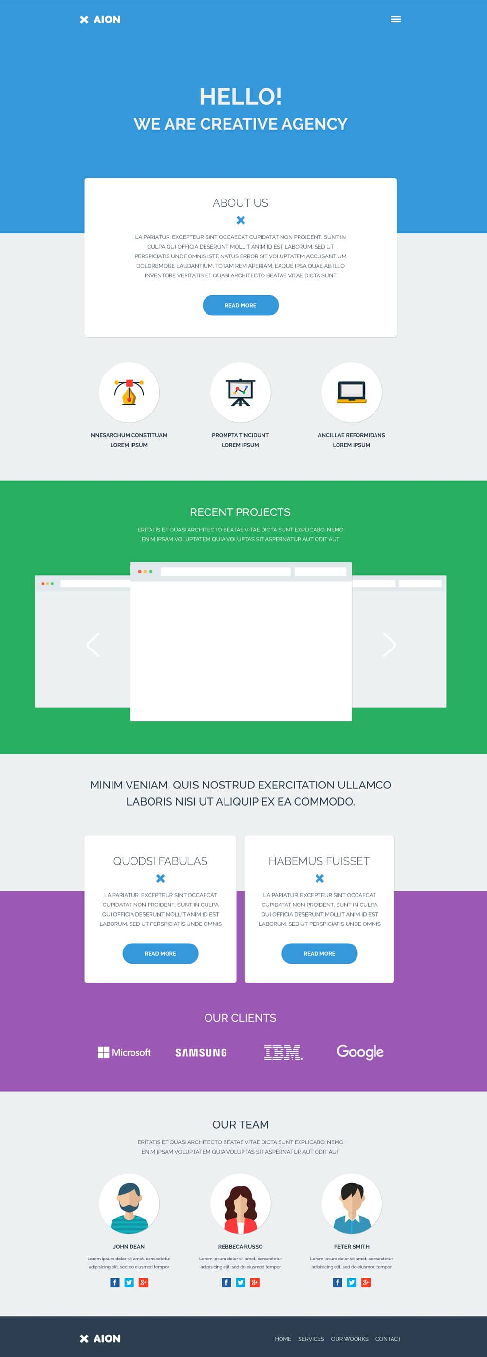 Free corporate and business web templates psd aion free web template psd flashek Choice Image