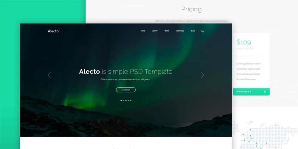 Alecto Web Template PSD