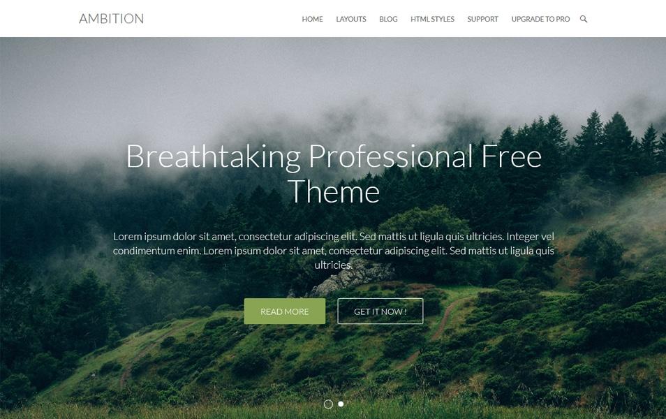Ambition Responsive WordPress Theme