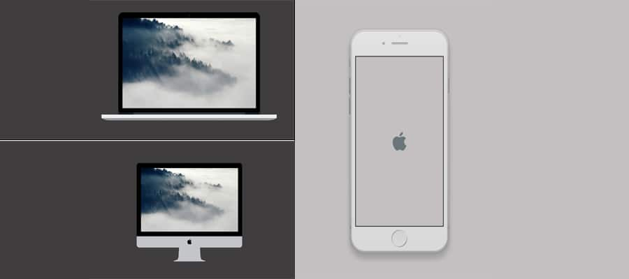Apple Devices Mockups PSD