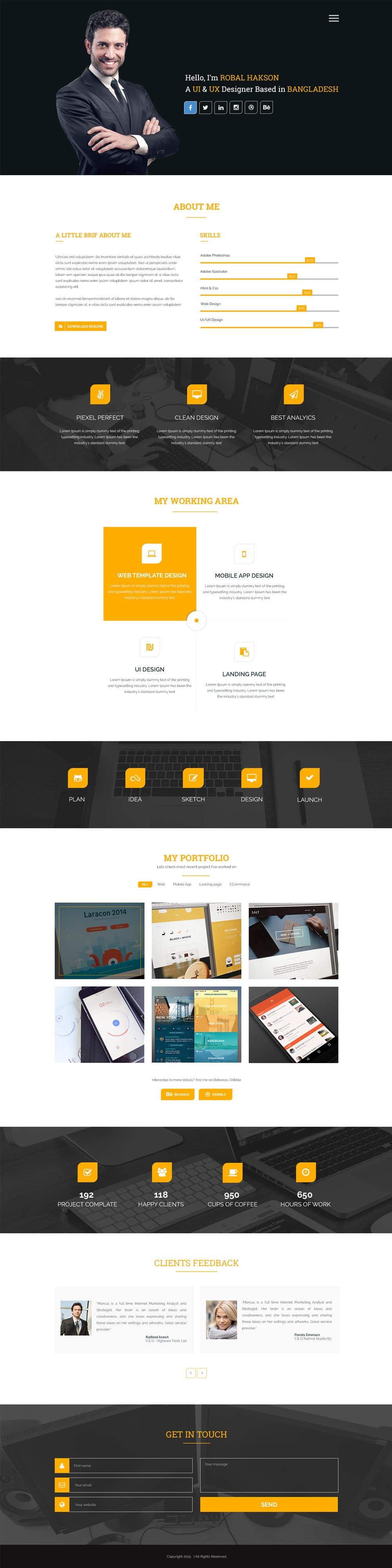 personal website template free download