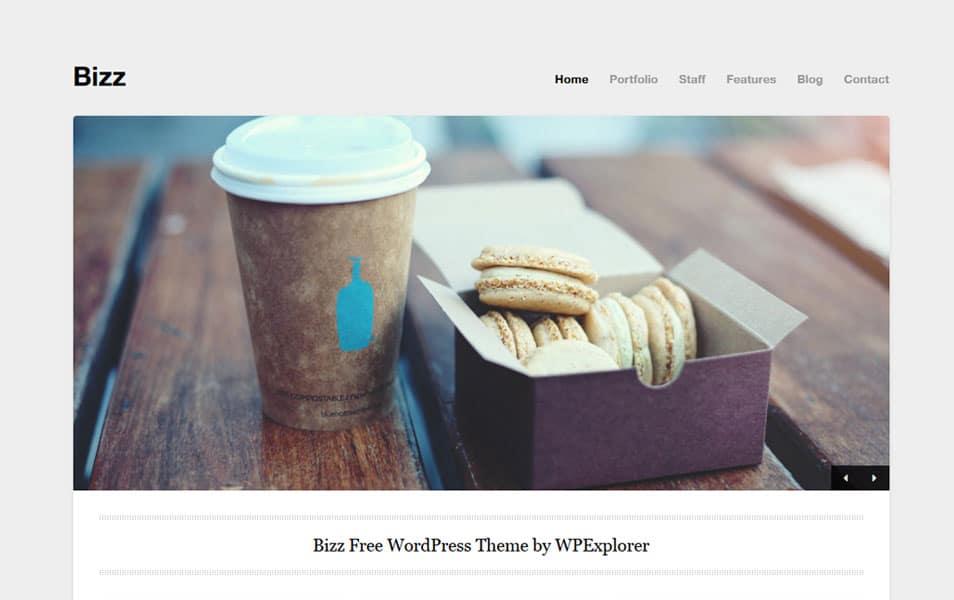 Bizz – Free Minimal Business & Portfolio WordPress Theme