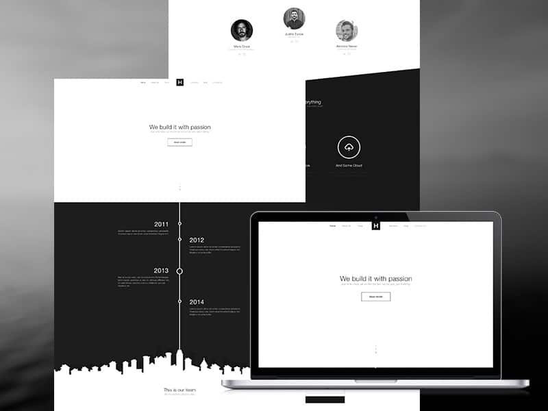 Black & White - Free Template PSD