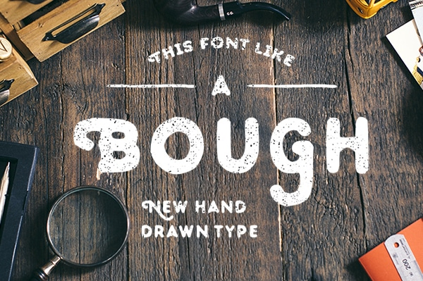 Bough Free Hand-Drawn Typeface