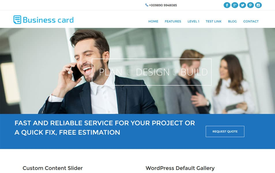 Free business card theme wordpress images card design and card 100 best free business wordpress themes 2018 css author business card wordpress theme reheart images reheart Image collections