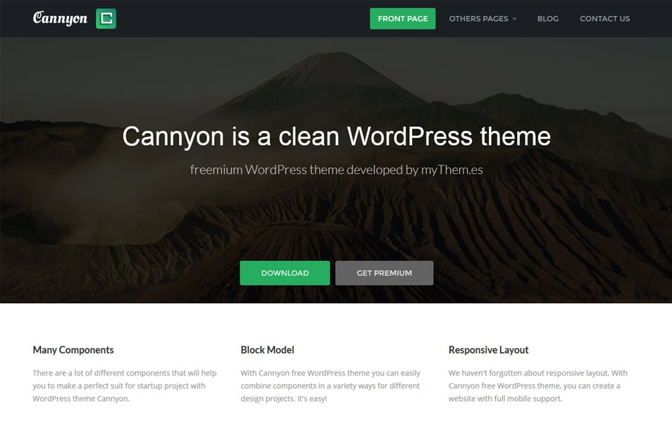 Cannyon Responsive WordPress Theme