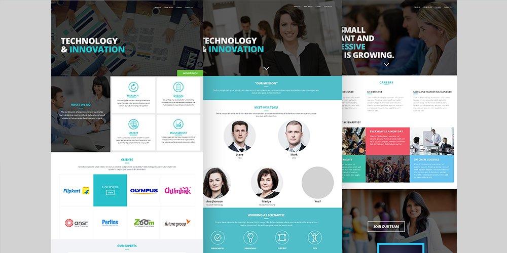 Corporate Web Template PSD