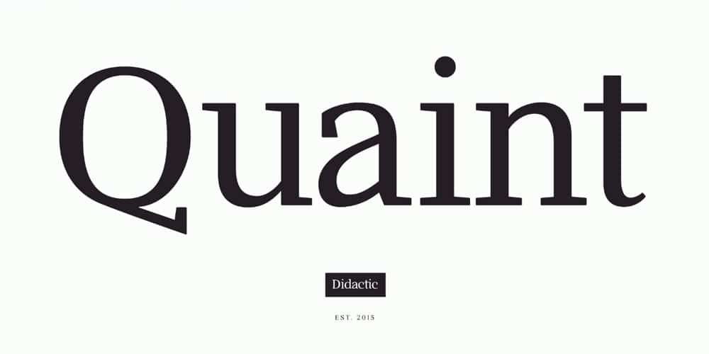 Didactic - Free Serif Font