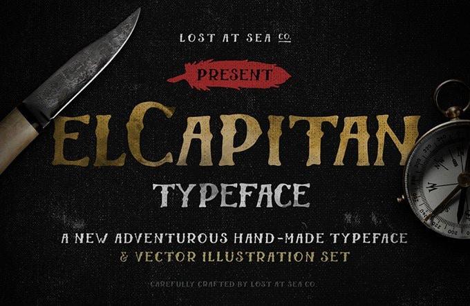 El Capitan Free Hand-Drawn Font