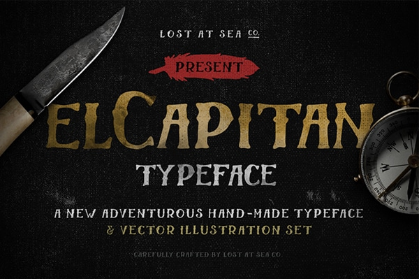 El-Capitan-Free-Hand-Drawn-Font