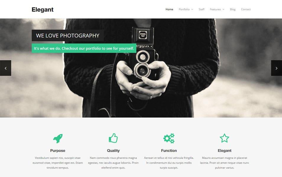 Elegant Free WordPress Theme