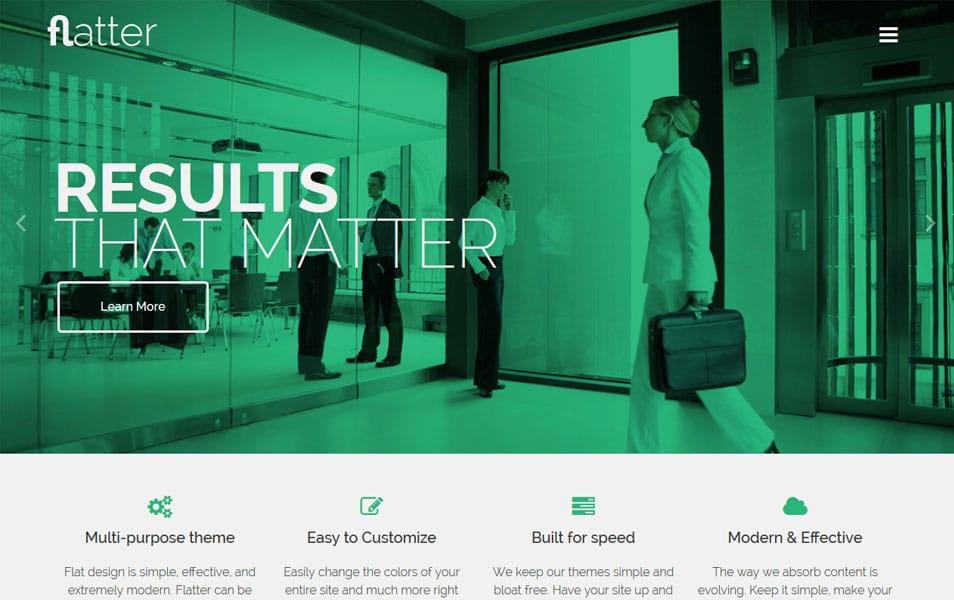 Flatter WordPress Theme