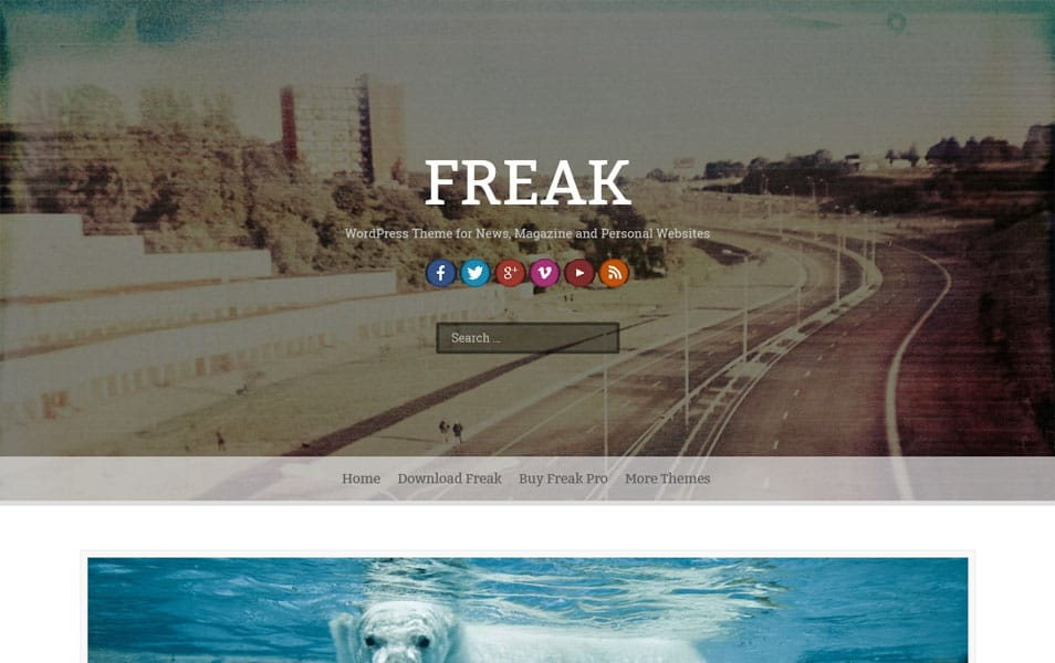 Freak Magazine News WordPress Theme