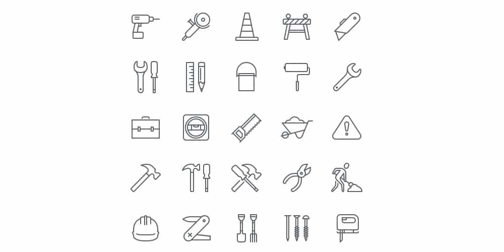 Free Construction Icons for iOS 8