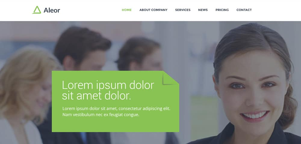 Free Corporate Web Template PSD