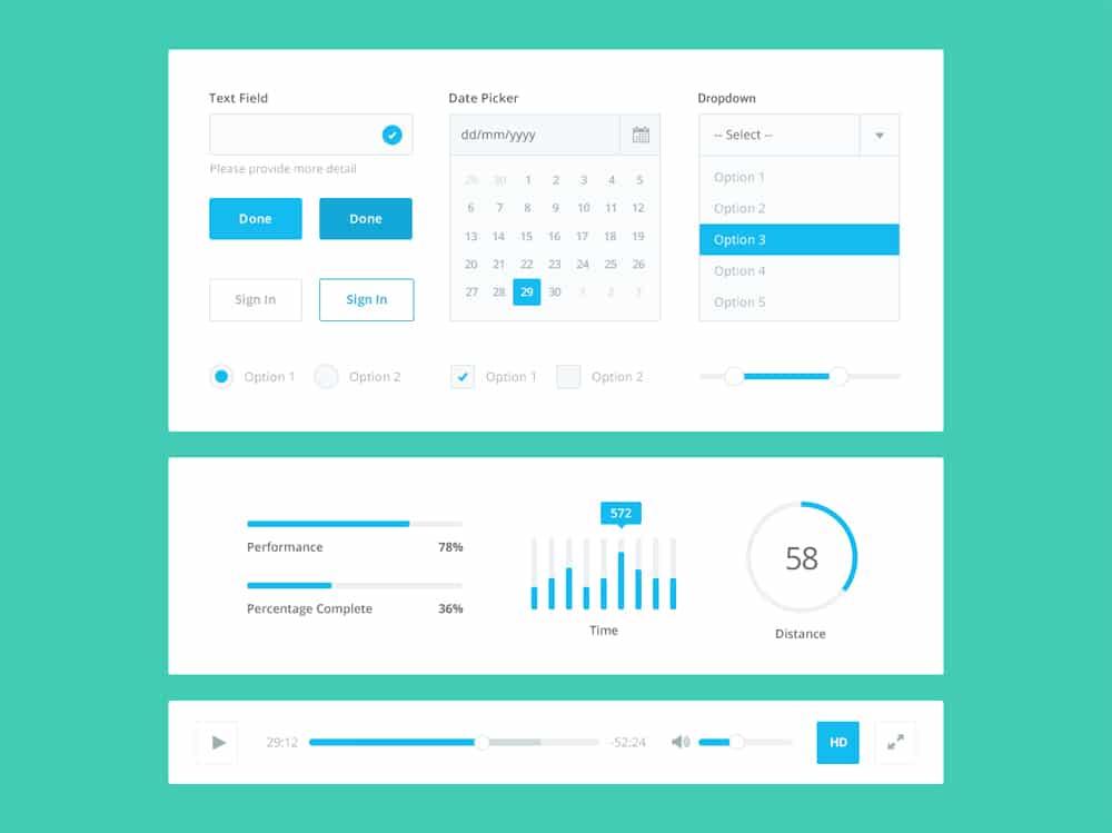 Free-Flat-UI-Kit-PSD
