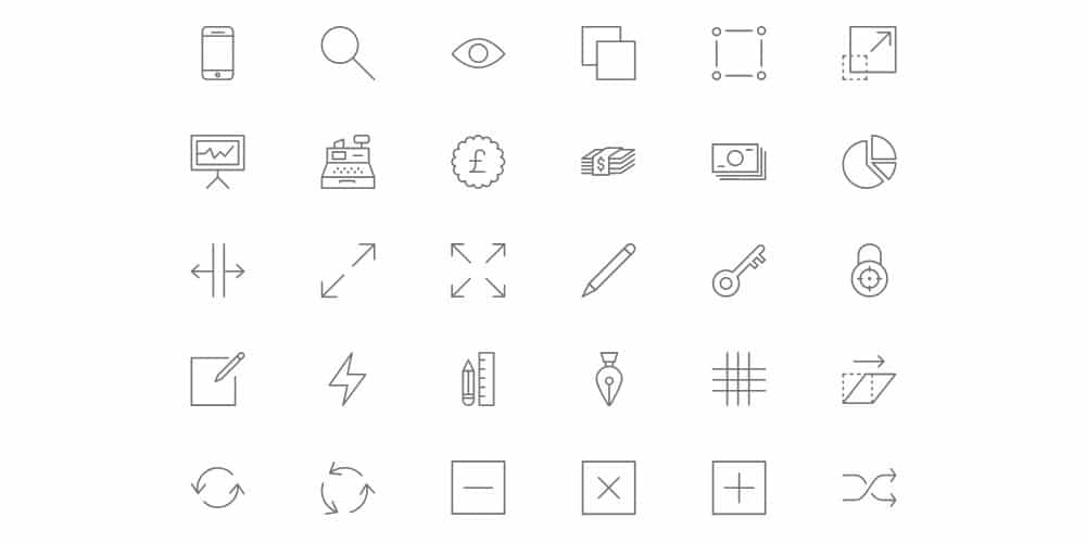 Free Line Icons PSD
