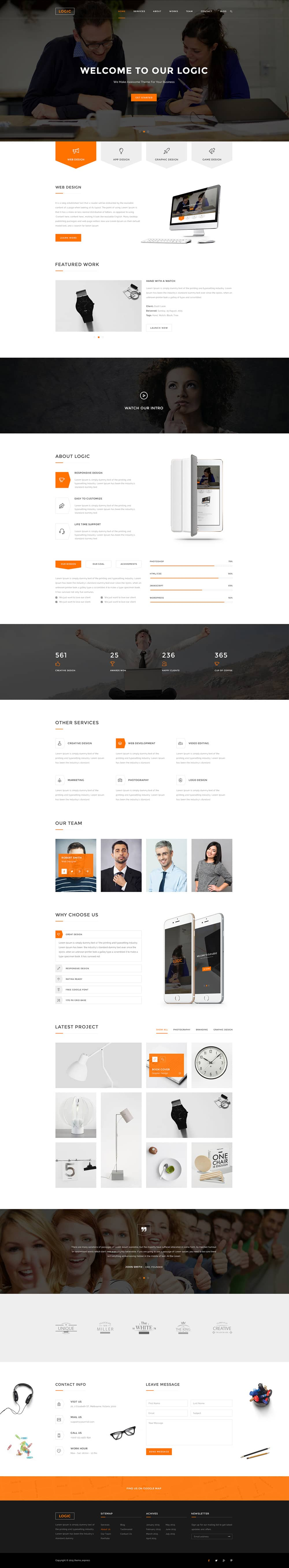 Free Multipurpose Business Web Template PSD