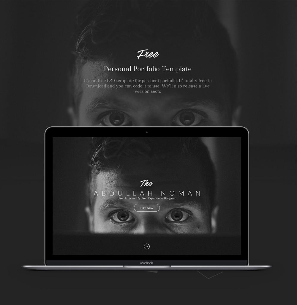 Free Personal Portfolio Template PSD