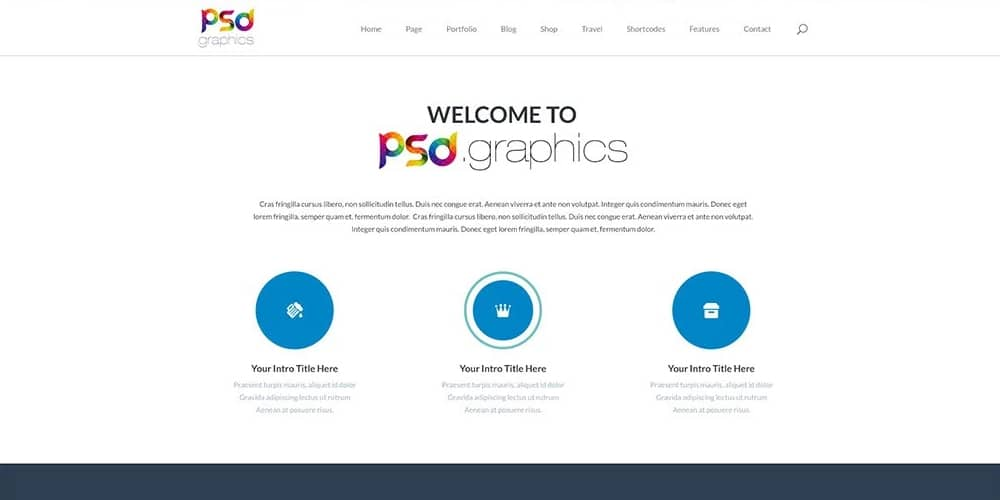 Free Professional Business Web Template PSD