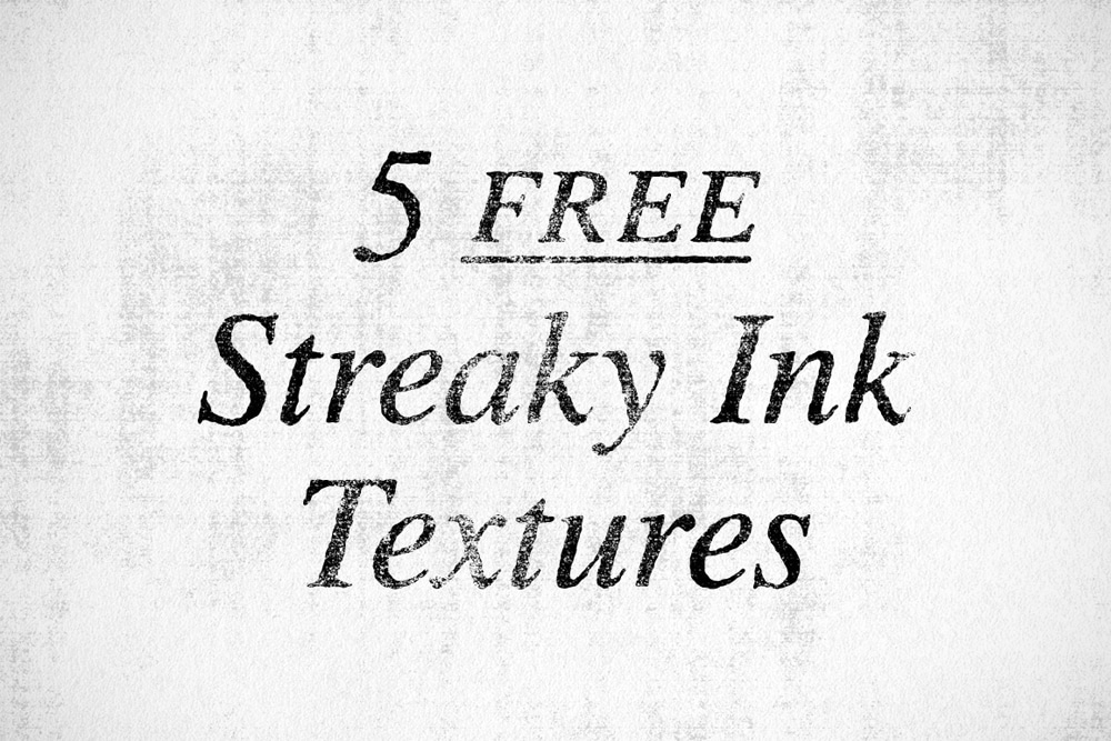 Free Streaky Ink Textures