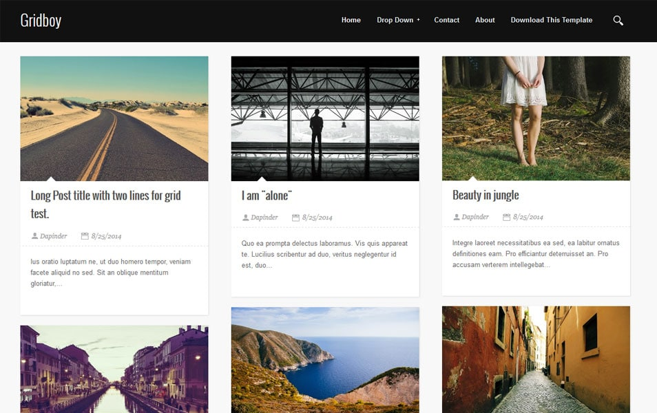 Gridboy responsive blogger template