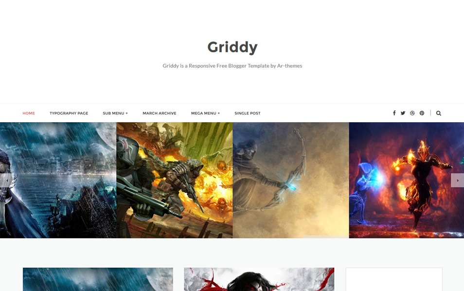 Griddy Responsive Blogger Template