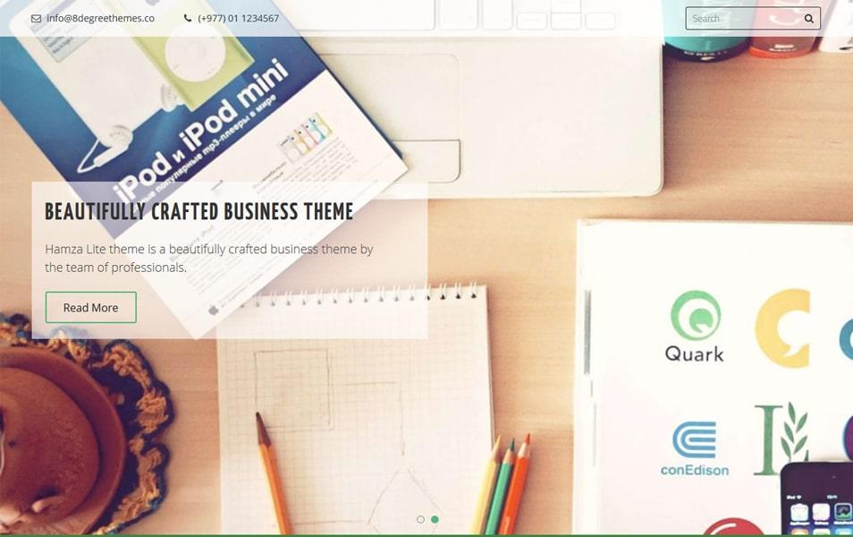 Hamza Lite Responsive WordPress Theme