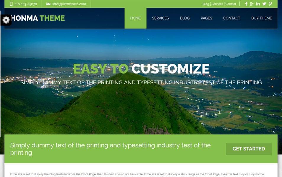 Honma Free – Responsive WordPress Theme