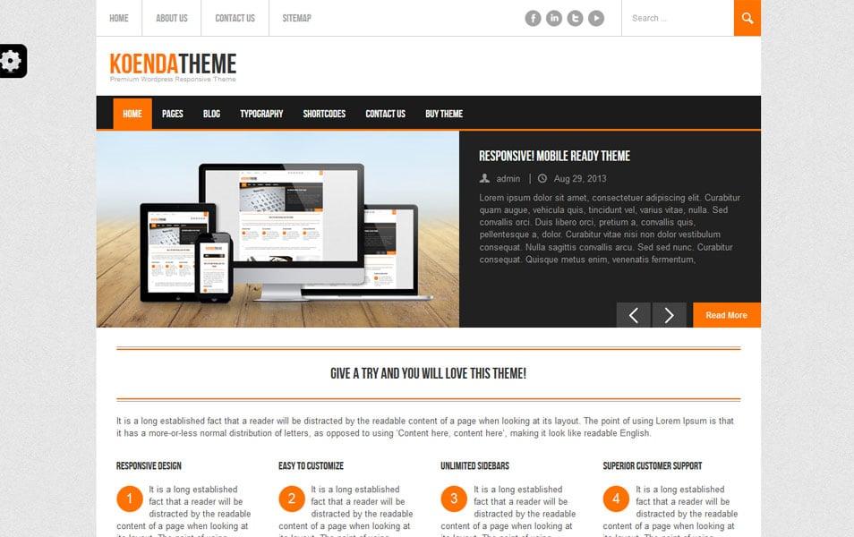 Koenda Free – Responsive WordPress Theme