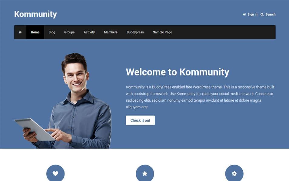 Kommunity WordPress Theme