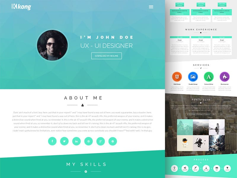 Free Portfolio Website Templates Psd 187 Css Author