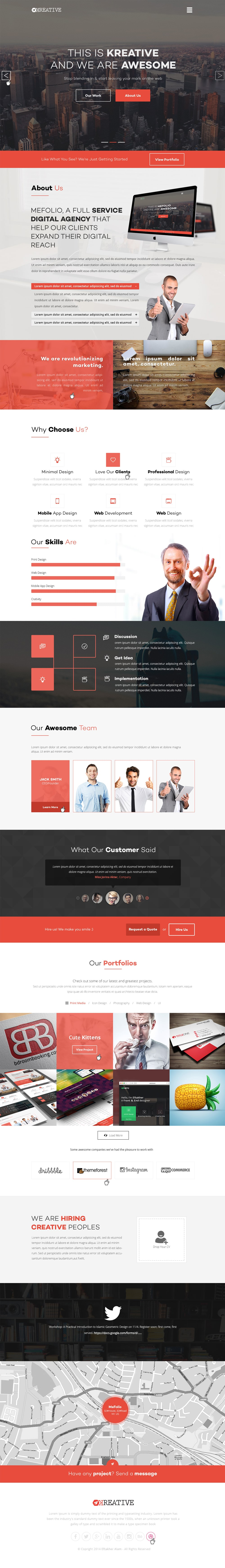 free agency website templates psd css author. Black Bedroom Furniture Sets. Home Design Ideas
