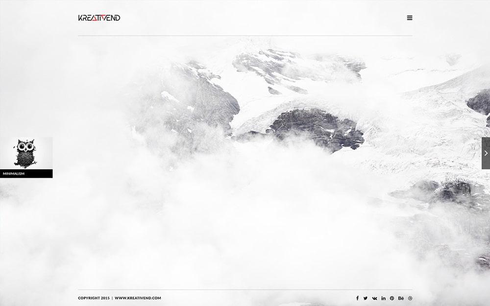Kreativend - Free Minimalistic portfolio Template PSD