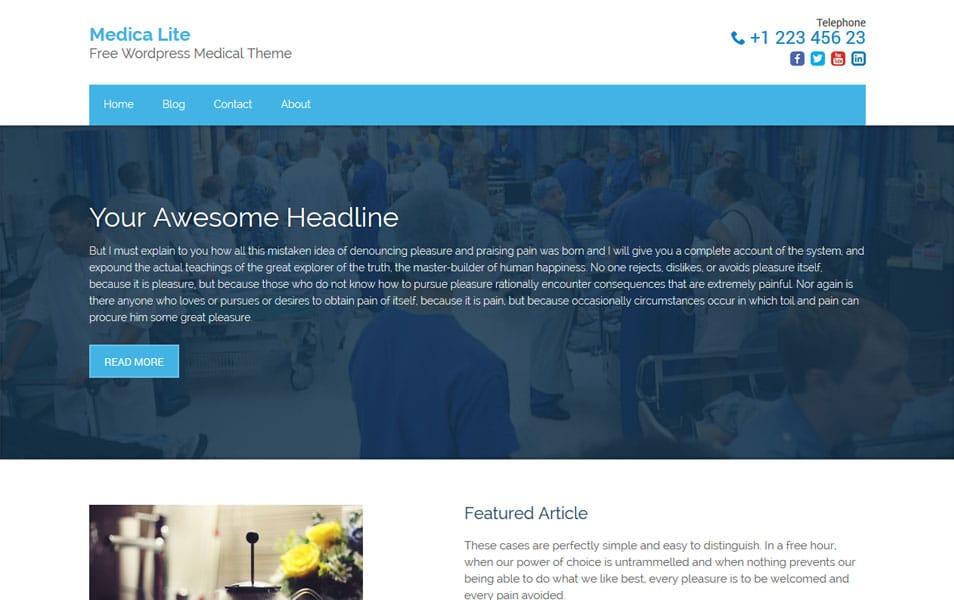 Medica Lite - Free Medical WordPress Theme