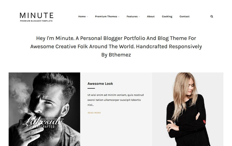 Minute Responsive Blogger Template