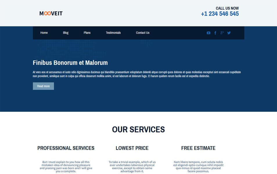 Mooveit Lite - Free Mooving Company WordPress Theme