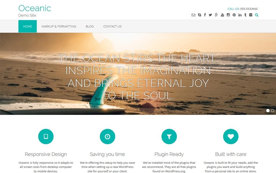 Oceanic Responsive WordPress Theme