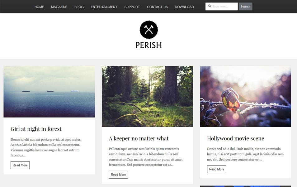 Perish Blogger Template