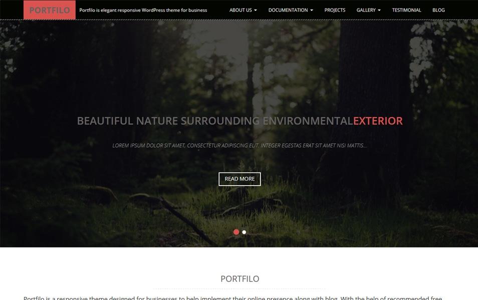 Portfilo Responsive WordPress Theme