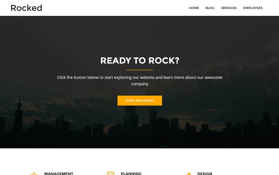 Rocked Responsive WordPress Theme